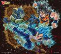 Moro Vs UIS Goku & SSBE Vegeta