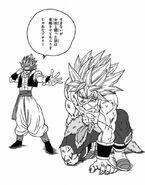 Gogeta contra Broly Manga