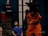 Goku and Gohan in Robot Chicken