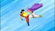 Buu Raquitico vs Son Goku