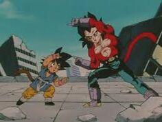 Goku y vegeta haciendo el sanso ken