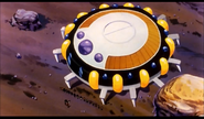 DXRD Caption of King Cold's 16 soldiers behind him & Mecha-Frieza outside King Cold's spaceship on Earth