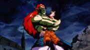 Abrazo de Oso-Bojack vs Gohan