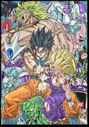 Masaki Sato's Special drawing of the Dragon Ball Z movies for Barcelona convention, November 9th, 2018