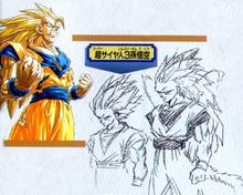 Concepto original del Super Saiyan 3