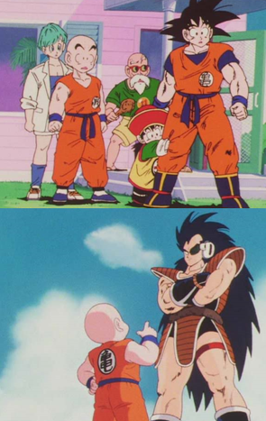 Krillins Inconsistent Height During His Encounter With Raditz