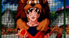 Goku et un lion
