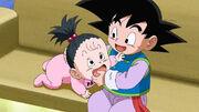 Goten con sua cugina Pan in Dragon Ball Super