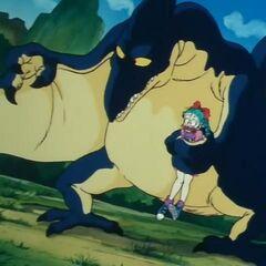 Lo pterodattilo che rapisce Bulma nel primo episodio.