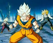 Goku,trunks y gohan preparados