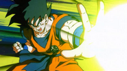 Goku Attacking Angila