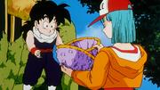 Son Gohan e Bulma vedono l'uovo di Cell