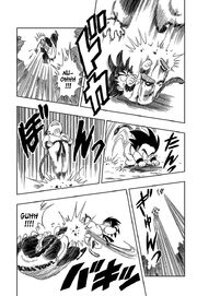 Goku attacks Mercenary Tao