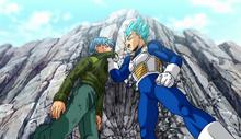 Vegeta et Trunks entrainement DBS