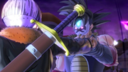 DBXV2 The Masked Saiyan Saga Xeno Trunks VS The Masked Saiyan (Bardock, the Masked Man - Cutscene 3)