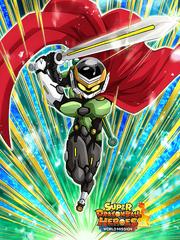 Dokkan Battle Hero Who Unites the World Great Saiyaman 3 card (SDBHWM Great Saiyaman 3 Xeno Trunks UR)