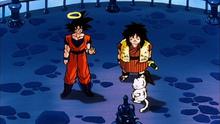 Goku et Karin (Yajirobe aussi)