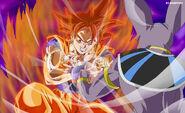 Goku super saiyan god vs bills full hd by menkyon-d5ylt37