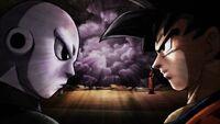 Jiren y Goku Frente a Frente