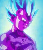 Vegeta Falso de moco Super Saiyan Azul