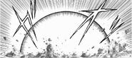 Destrucción provocada por la Explosión Furiosa en el Manga