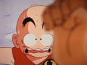 Krillin looking nervous