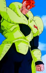 Androide Número 16 antes de luchar contra Cell