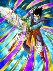 Dokkan Battle Latent Power Gohan (Teen) card (Apprentice Supreme Kai Adolescent Gohan with Z Sword SSR-UR)
