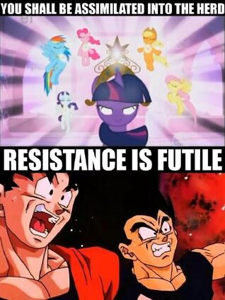 Hilarious MLP and DBZ picture