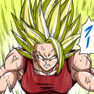 Kale Super Saiyan Leggendario, nel manga.