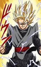 Goku Black Supersaiyano manga a color