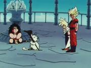 Goku e Gohan da Karin