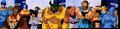 Grand Kai's Planet fighters (among Yamcha & Krillin) examine Kid Buu captioned by Niv Lugassi