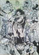Masaki Sato's drawing of the Raditz Saga