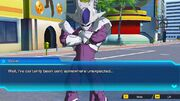 """SDBH World Mission Ch1, Sub Ch1- """"My Thrilling First Battle"""" Game World Cooler (Final Form) in Hero Town (Dialogue Cutscene)"""