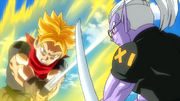 SS F Trunks (Prison Planet) vs Fu