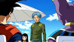 Trunks Goku is fight