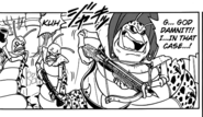 Centipede aliens try to fight Beerus (DBS Manga chapter 1)