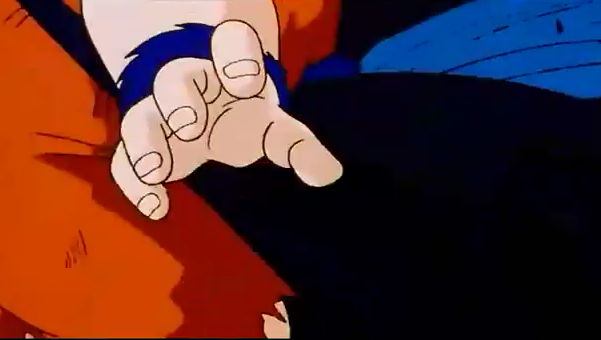 Piccolo kneed gohan in the stomach
