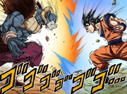 Molo contro Goku alla massima potenza