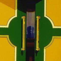 Il portone che conduce alle stanze private della Principessa del Serpente.