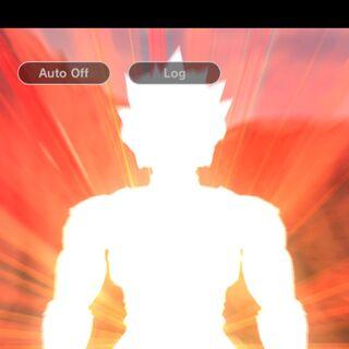 Shallot alla fine del rito per il Super Saiyan God.