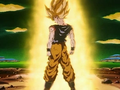 Goku becomes a Super Saiyajin for the first time!