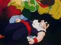 Salt about to elbow gohan in the stomach2