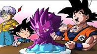 Goku se come a la copia de vegeta