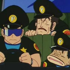 La polizia del Villaggio Pinguino.