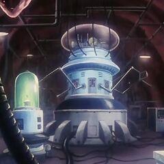 Il seminterrato con il generatore di Cell.
