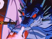 Il Drago del Fumo Nero fuma un sigaro
