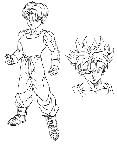 Image trunks at the end of dragon ball dragon - Coloriage dragon ball gt ...