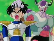 Frieza grabs gohan by the hair 5